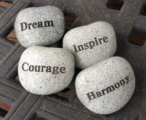 inspiration and hope stones